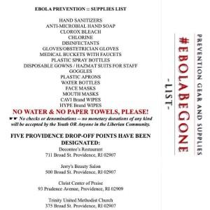 ebola items